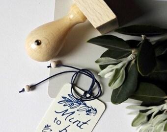 Mint to Be Custom Wedding Stamp,Customizable Wedding Tags Decor Stamp  -1447250217-