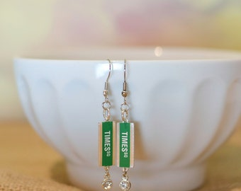 New York Jewelry, New York Earrings, I heart NYC, NYC Jewelry, Travel Jewelry, Times Square,