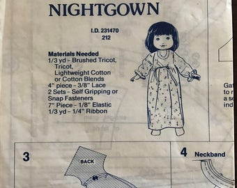 Fisher Price My Friend Jenny Nightgown - Pattern 212
