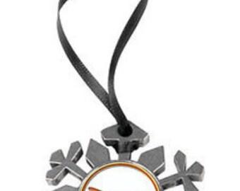 Texas Longhorns Snowflake Ornament