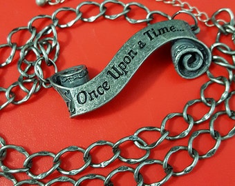 Once Upon A Time Scroll Necklace   Fairytale   Storybrook