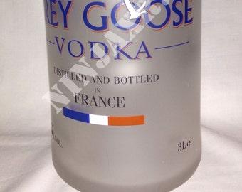 Empty bottle jar Grey Goose Jeroboam 3 liter recycling creative furniture design gift idea