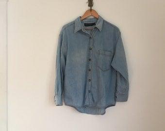 vintage 90s chambray shirt