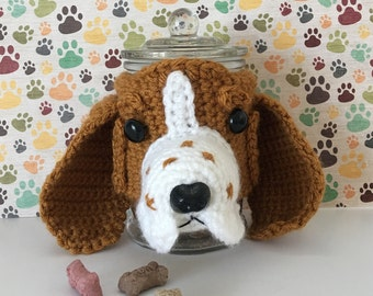 Basset Hound - Gifts For Dog People - Funny Basset Hound - Crazy Dog Lady - Dog Treat Jar - My Kids Have Paws - Dog Related Gift - Dog Mommy