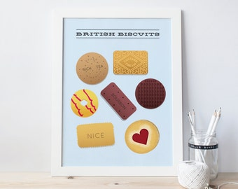 Biscuits Print - British biscuits