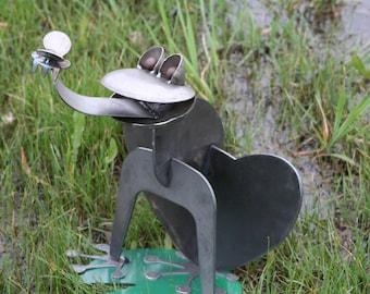 Giant Metal Frog, Frog Collector, Metal Garden Frog, Outdoor Frog Statue,  Frog
