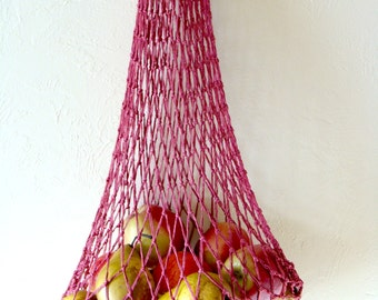"Soviet String Bag /Vintage Eco Shopping Rusty Lightweight Fishnet Tote ""Avoska"" / Iconic Russian Soviet Era Bag in USSR"