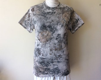 Men's Post Apocalyptic Painted & Distressed Short Sleeve Cotton Wastelander Wasteland T-Shirt Wastelander Apocalyptic Cosplay Costume