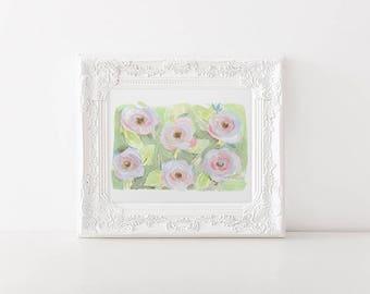Modern Watercolor Floral - 8x10 Wall Art - pistachio green art print