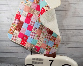 Shabby Chic Baby Quilt Cottage Chic Baby Quilt Crib Blanket Cot Quilt Nursery Blanket Crib Quilt Ditsy Prints Cath Kidston quilt