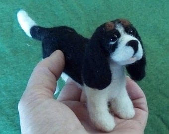 Needle felted King Charles Spaniel