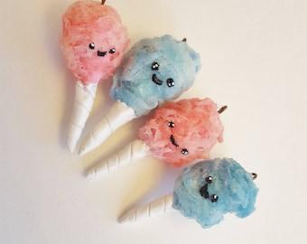 Kawaii Polymer Clay Cotton Candy Charm