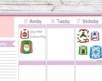 Choice Itty Bitty Or ECLP Ugly Christmas Sweater To Use With Erin Condren Planner