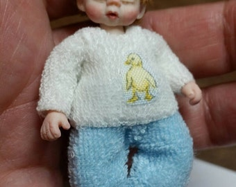 Miniature ooak doll boy 1:12