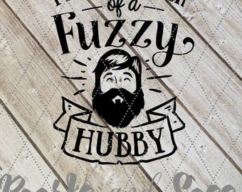 Fuzzy Hubby - Proud Owner of a Fuzzy Hubby Decal - Bearded Husband, Beard Decal, Hubby Decal