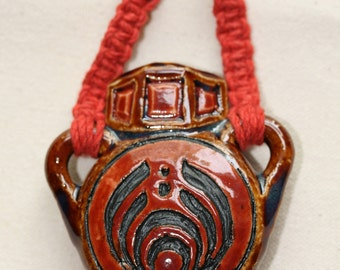 Bass drop  Pendant Pipe - Fully Functional Bowl - Hemp Necklace
