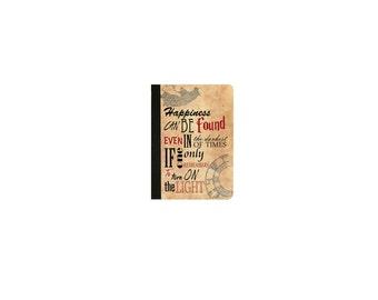 Harry Potter-HAPPINESS QUOTE Inspired  Faux Leather Folio/Book Case for IPad 2 IPad 3 Ipad 4 Ipad Air/Air 2 Ipad Pro 9.7 IPad 12.9