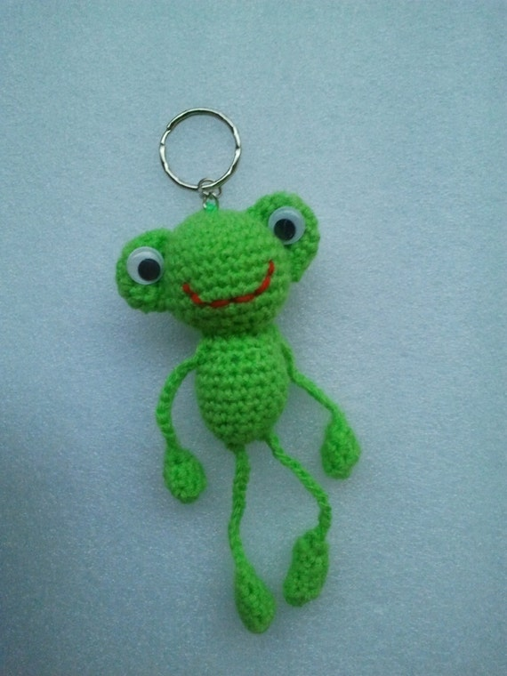Kawaii Frog Amigurumi : Crochet Keychain Frog Amigurumi FrogStuffed Frog Crochet
