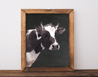 Cow Painting. Printable, cow art, farmhouse printable, farmhouse decor, farmhouse wall decor, farmhouse sign, farmhouse chic, cow art print
