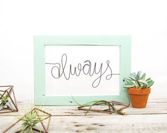 Harry Potter Always Wire & Wood Sign | Gift for Newlyweds | Bedroom Decor | Metal Wall Art | Wire Sculpture | Harry Potter Gifts | Boho Art