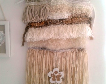 Modern weaving - contemporary weaving - Wallart - wall hanging - Weaving - woven wall hanging - Bohodecor - weaving wool - weavingloom