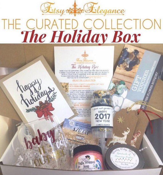 Holiday Season Box - The Curated Collection - a Subscription Box by Etsy Elegance - collection of handmade products and shops
