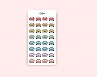 Car Stickers / Roadtrip Stickers, Trip Sticker, Work Sticker, Driving Sticker / Planner Stickers / Mini Stickers / Rainbow Stickers | D21