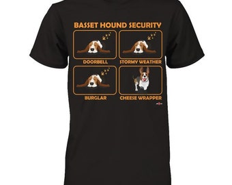 Funny Basset Hound Shirt | Basset Hound Security | Cheese Wrapper edition | Funny Basset Hound Gift Idea