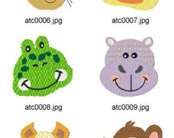 Animal-Faces ( 9 Machine Embroidery Designs from ATW ) XYZ17D