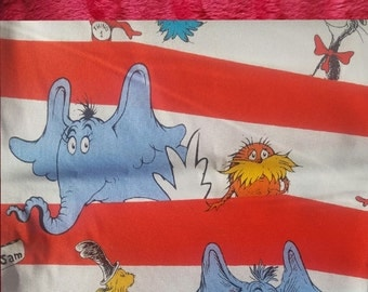 Personalized Dr. Seuss Blanket, Cat in the Hat Blanket, Dr. Seuss, Horton Hears a Who