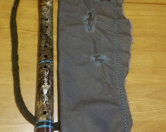 "Hand-made Native American Flute Bag-""Petroglyphs"""