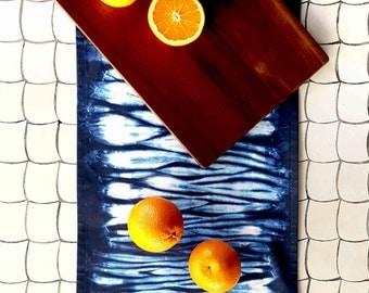 Table Runner, Shibori Table Runner, Tie Dye Table Runner, Indigo Blue, Coffee table, Shibori Homewares, Modern Home Decor, Dining Table