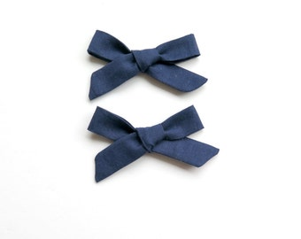 Navy Pigtail Set