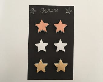 Star magnets / Space / Night sky / Pack of 6 / Fridge magnets / Office magnets / Home accessory