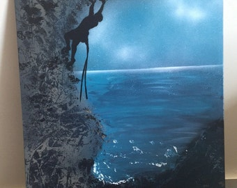 Rock Climbing-Original Spray Paint Art