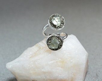 Aquamarine Jewelry - Raw Aquamarine Ring - March Jewelry - Rustic Jewelry - March Birthstone Jewelry - March Birthstone Ring - Gemstone Ring