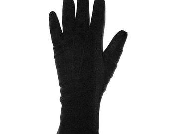 Vintage 50s black gloves size XS