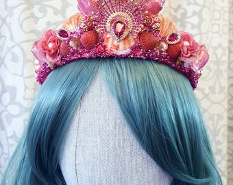 Pretty in Pink Mermaid Princess Crown