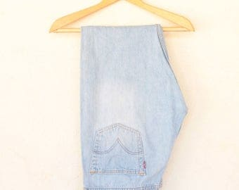 Vintage Stone Wash Levi's 501 Denim  Size - 35W 32L /Crotch Length 11 Inches// (size on label 36W 32L)