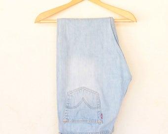 Vintage Stone Wash Levi's 501 Denim  Size - 35W 32L /Crotch Length 11 Inches// (size on label 36W 32L)