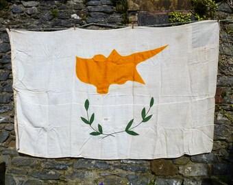 Sensational Cyprus Vintage Ship's Flag. Maritime Collectible. Nautical Flag