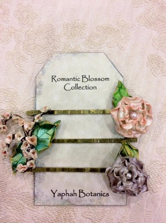 Rose Bobby Pin Set, Botanical Hairpins