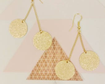 """ROUND GRANITES and GLITTER effect """"Stardust"""" earrings"""