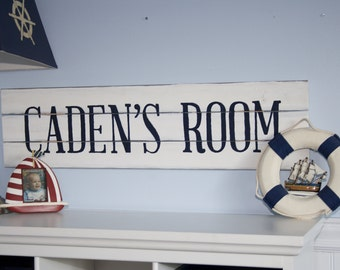 Personalized Wooden Room Sign