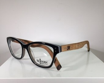 Black Cateye Unique Wood Eyeglasses Women & Mens Eyeglasses
