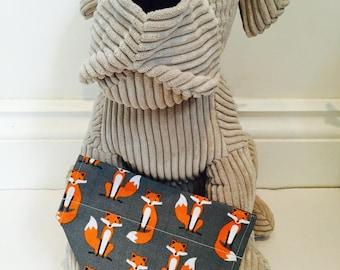 Dog Bandana, Mr Fox Bandana, bandana for dogs.