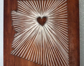 State String Art - Arizona