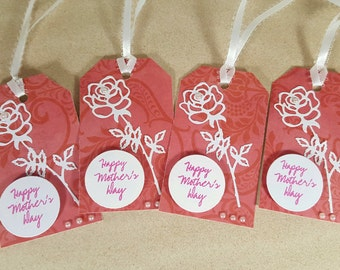 Gift Tags - Mother's Day Gift Tags - Rose Gift Tags