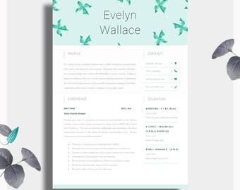 cv template creative resume template two page professional