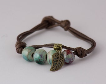 Manually Galaxy ⊙ beads ceramic bracelet ideal gift for man or woman ⊙